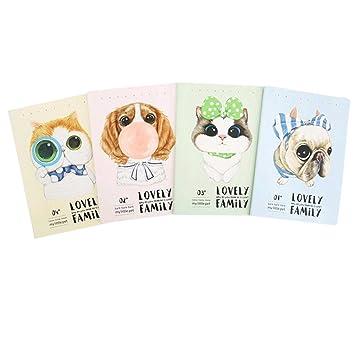 Da.Wa Cute - Cuaderno de dibujos animados para gato o perro, para niños