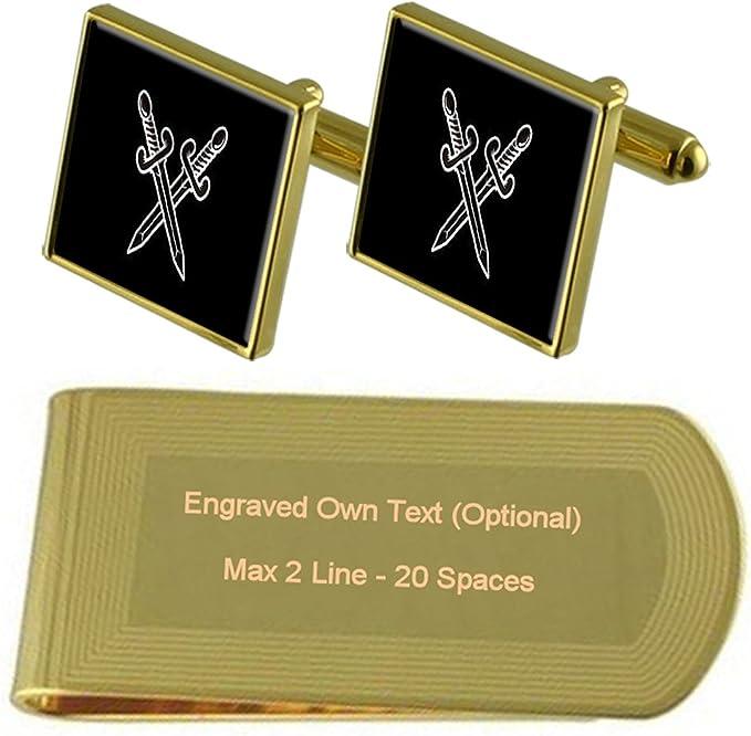 Graviert mit Ihre Nachricht Personalisiert Gold Geldklammer