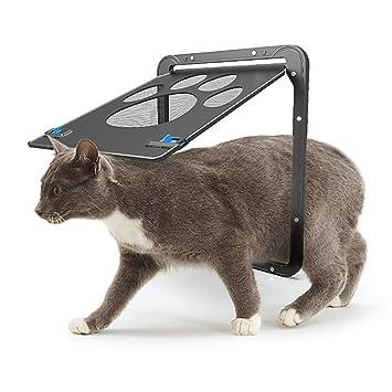 AIHOME Tapa Perros y Gatos Tapa Mascotas magnético de la Pantalla para Puerta con Cerradura Puerta Mascotas de Fácil Instalación Suficiente Libertad ...