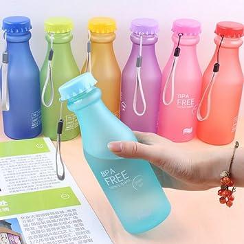 WOOAI Botella de Agua Portátil de 550 ML para Bicicletas al Aire Libre, Botella de
