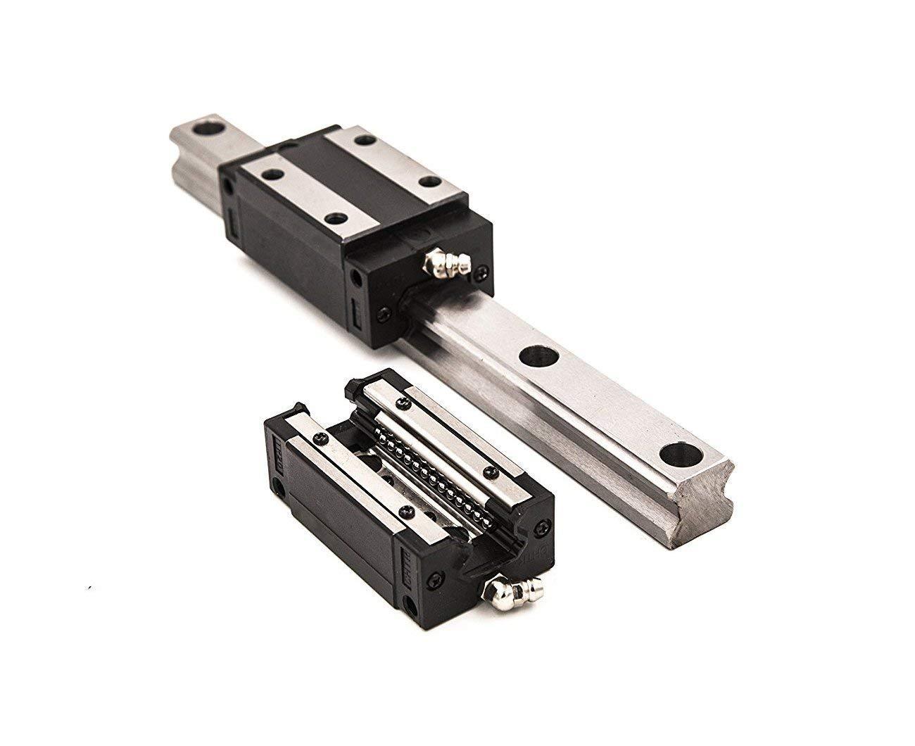 TEN-HIGH Linear Rail CNC Parts Linear Rail HSR35 1600mm Approx 62.99inch Linear Guideway Rail+2pcs HSR35CR Square Type Carriage Bearing Block