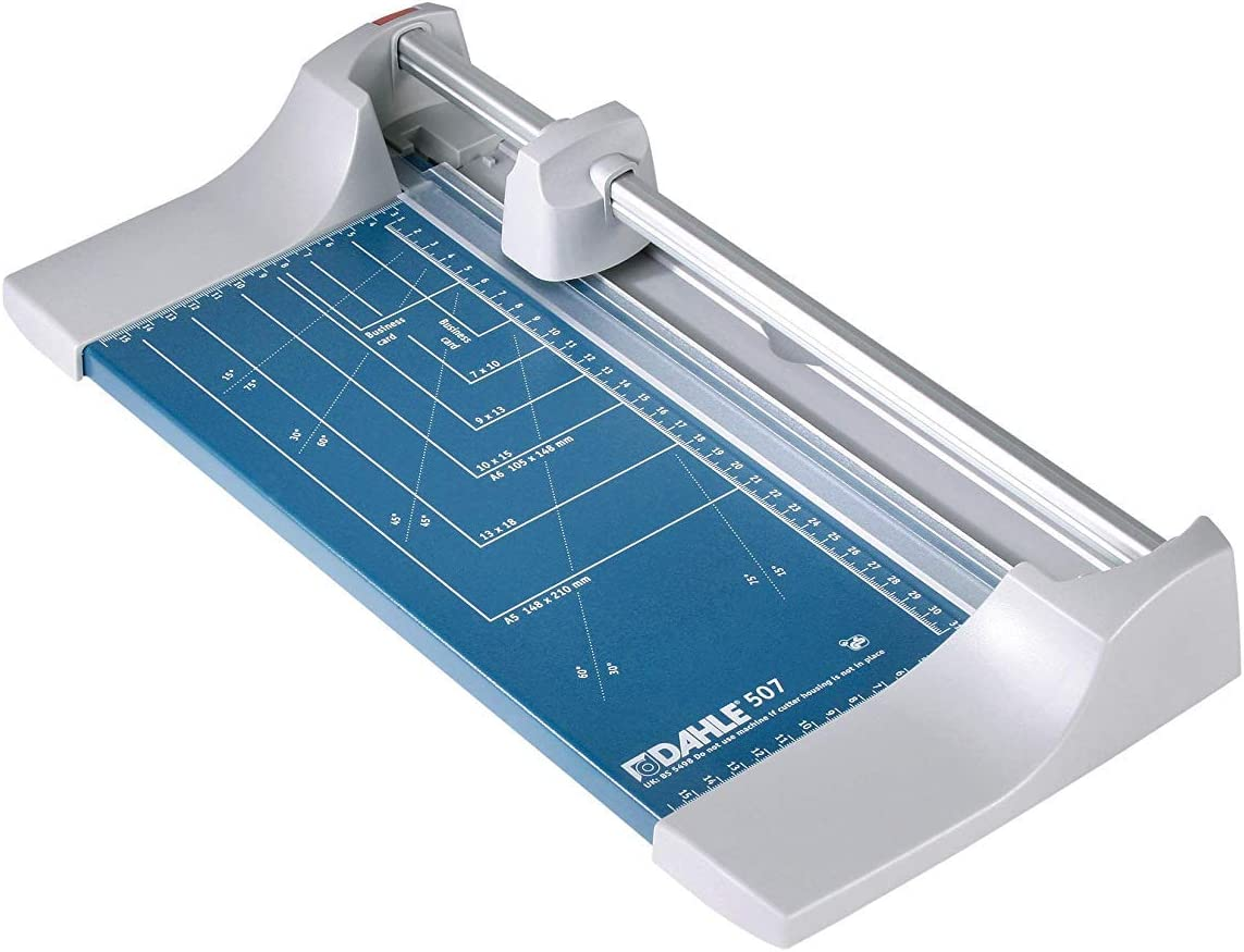 Dahle A4 Personal Trimmer Cutting Length 320mm/Cutting Capacity 0.8mm - Blue