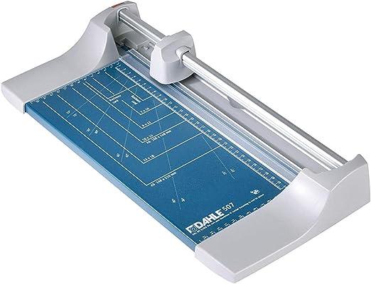 color azul 46,4 x 21,3 x 7,3 cm, longitud de corte 320 mm, capacidad de corte 0,8 mm, tama/ño A4 Dahle Cizalla para papel