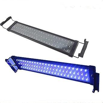 Asvert Lámpara de Acuario Luces LED 2 Modos de Iluminación para Acuarios de Peces y Estanques
