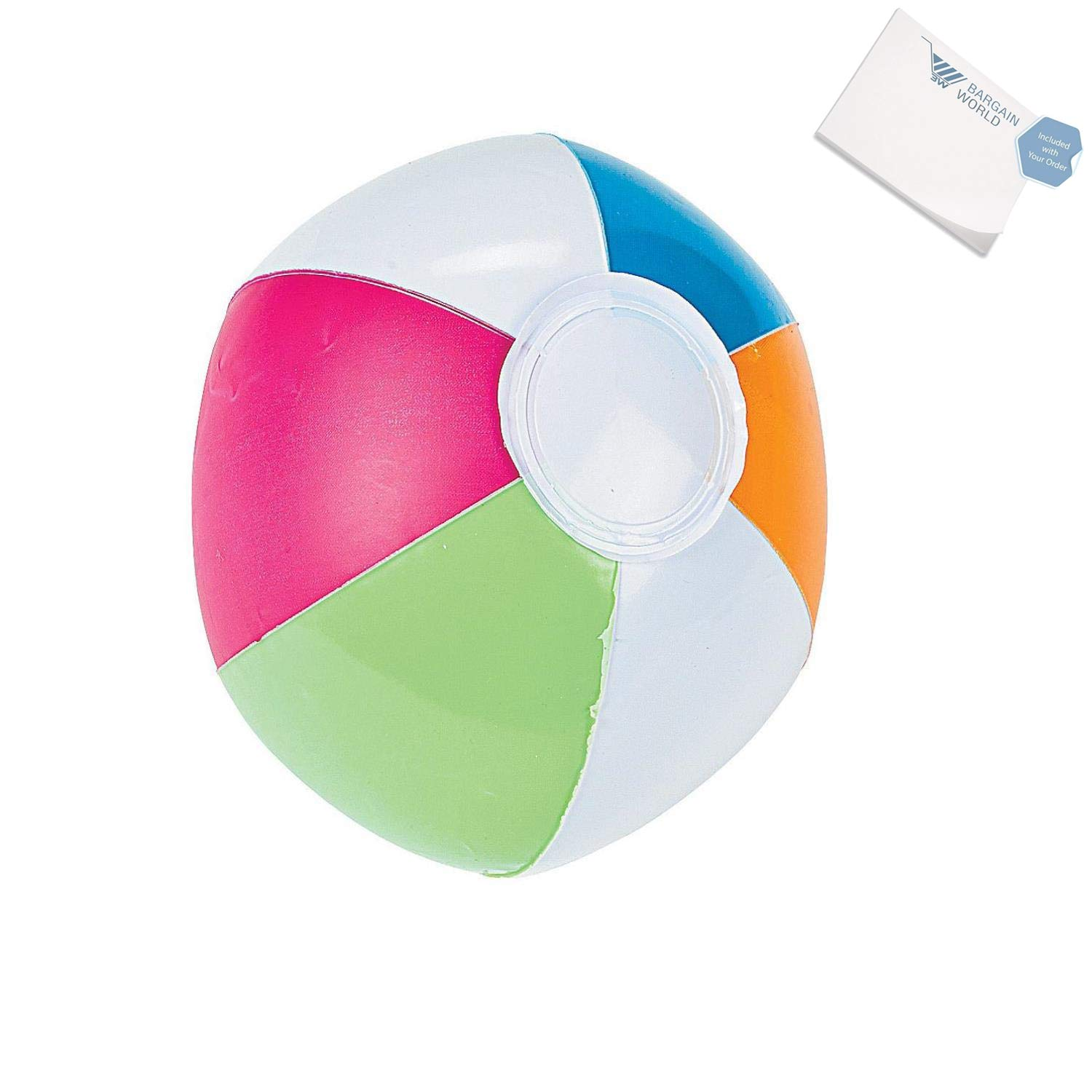 Bargain World Vinyl Iatable Mini Spring Brights Beach Balls (With Sticky Notes)
