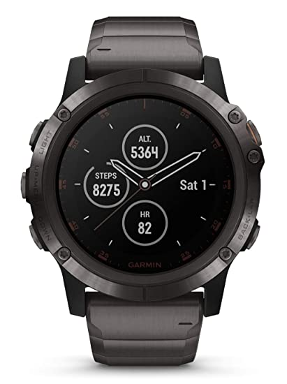 Watch Garmin Fenix 5 X Plus Sapphire 010 01989 05 Amazon Co Uk Watches