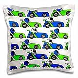 Best 3dRose Boy Stuffs - 3dRose Boy Stuff Blue and Green Racecar Print-Pillow Review