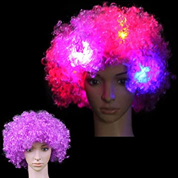 Amazon.com  1 Piece LED Wig Light Up Wigs Cosplay Costume Hairs ... dfe59f5d3