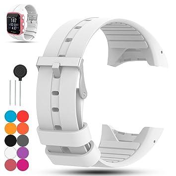iFeeker para Polar M400/M430 GPS Banda de Reloj Inteligente, Accesorio de Silicona Suave de Caucho reemplazo Banda de Reloj Pulsera de Banda para ...