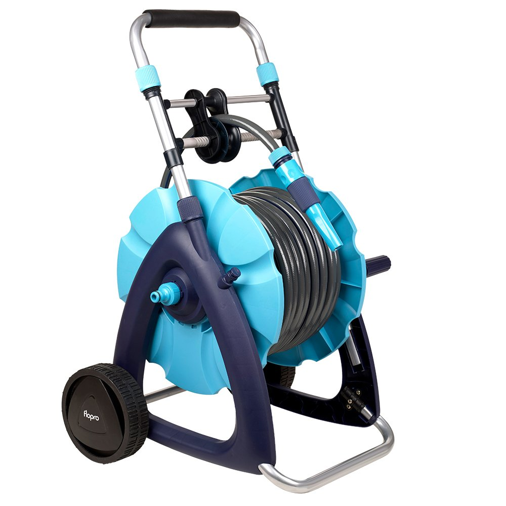 Flopro 70300455 Hose and Cart System 30m, Blue, 40.5 x 40.5 x 7.6 cm