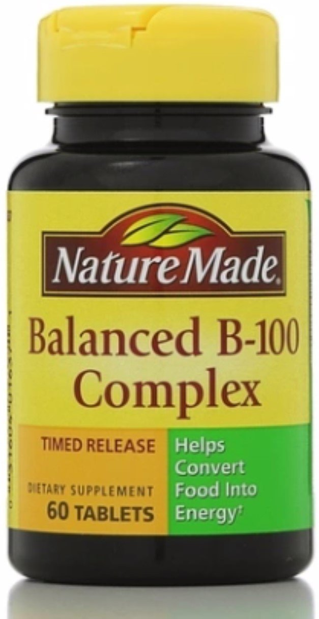 Nature Made Balanced Vitamin B-100 Complex Tablets 60 ea (Pack of 12)