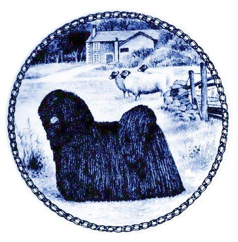 Skan Lekven Puli Danish Blue Porcelain Plate #7322