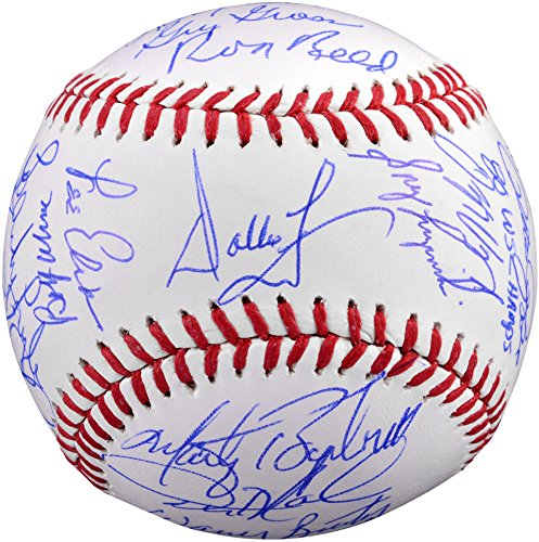 Philadelphia Phillies 1980 World Series Champions Team Autographed World Series Baseball with 24 Signatures and Multiple - Autographed World Team Baseball Series