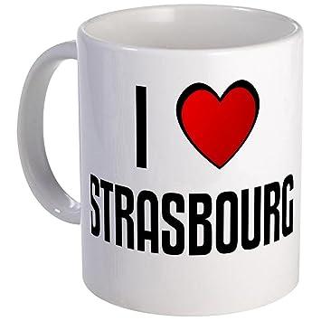 f4b8aa9194b8 Amazon.com  CafePress - I LOVE STRASBOURG Mug - Unique Coffee Mug ...