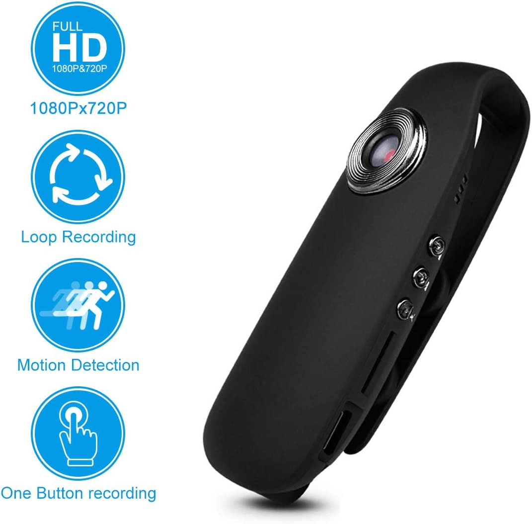 SUSZAVSS Hidden Camera, HD 1080P Spy Mini Cam, Sports Video Recorder, Motion Detection, Portable Action DVR Portable Pocket Clip Nanny Cam For Home Bicycle Business School