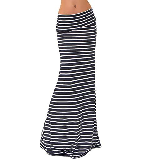 Faldas Mujer Largas Cintura Alta Slim Fit Elegantes Vintage Classic Rayas  Moda Casual Falda Larga Falda Tubo  Amazon.es  Ropa y accesorios c3a2ce857917