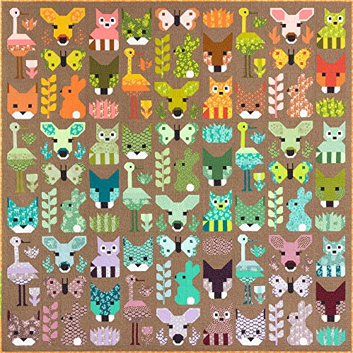 (Elizabeth Hartman Terrarium Delightful Desert Quilt Kit Robert Kaufman Fabrics)