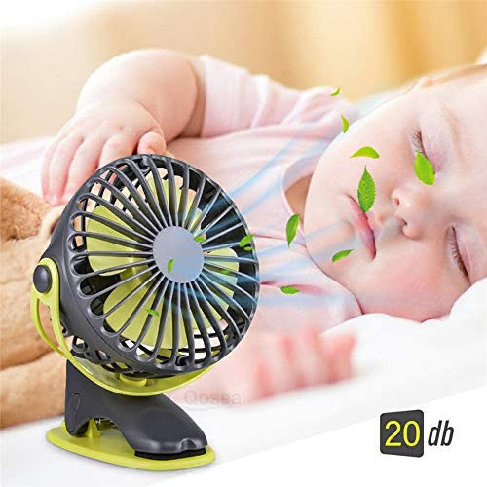4000Mah Portable Cooling Mini USB Fan 4 Speeds 360 Degree All-Round Rotation Rechargeable Air Fan USB Charging Desktop Clip Fan