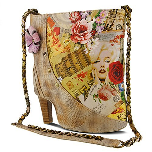 L`Artiste Womens Fabnfun Beige HandBag - One Size Fits All