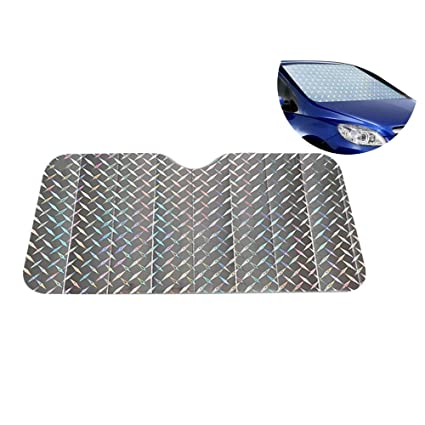 KDSANSO Auto Sonnenschutz Fenster UV Schutz Verdunkelungsfolie Sonnenblende Spiegelfolie Faltbare AbnehmbareSilber 130 60cm Amazonde