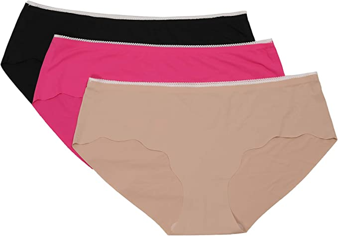 Venbond Womens Seamless Laser Cut Hipster Low Rise No Show Underwear Panties