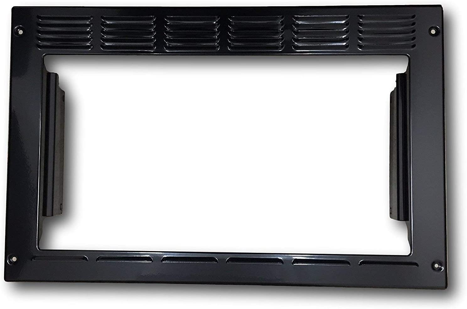"""Advent PMWTRIM Trim Kit, Black For use with MW900B and MW912B Built-in Microwave Ovens, Made of Steel, Outside Dimensions: 23.25""""W x 15""""H x 2.75""""D, Inside Opening Dimensions: 19""""W x 10.5""""H (Renewed)"""