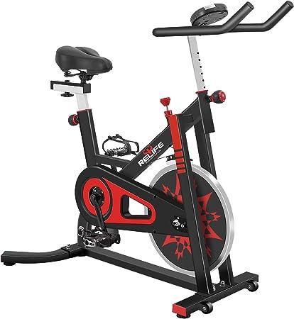Relife - Bicicleta Spinning Profesional para Interior y Ciclismo, para casa, Gimnasio, Entrenamiento, Bicicleta, Negro: Amazon.es: Deportes y aire libre