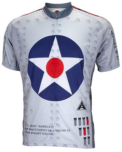 Amazon.com  World Jerseys Men s B-17 Flying Fortress Cycling Jersey ... e70cbcc9e