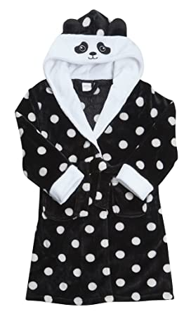 023680cbfa95 Girls Dressing Gown 100% LUXURY FLANNEL FLEECE Kids CHRISTMAS RABBIT ...
