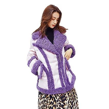 Abrigos Chaqueta De Tweed para Mujer Chaqueta De Cuero Piel ...