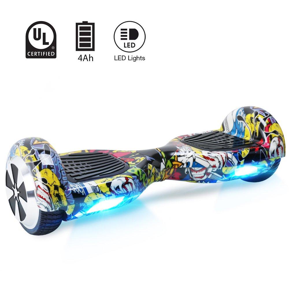 BEBK Hoverboard, 6.5 Self Balance Scooter mit 2 * 350W Motor, LED Lights Elektro Scooter