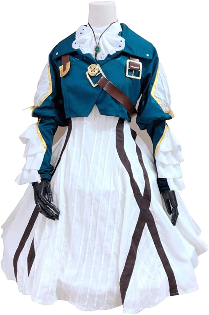 Poetic Walk Anime Violet Evergarden Cosplay Costume Womens Uniforms Suit Lolita Princess Dress Outfit