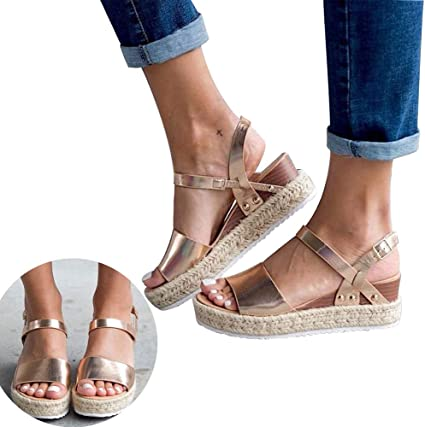 Swiusd Shoes Woman Girls Fish Mouth Sandals Comfy PU Leather Flat Ankle Strap Buckle Roman Sandals Peep Toe Non Slip Thick Bottom Sandals