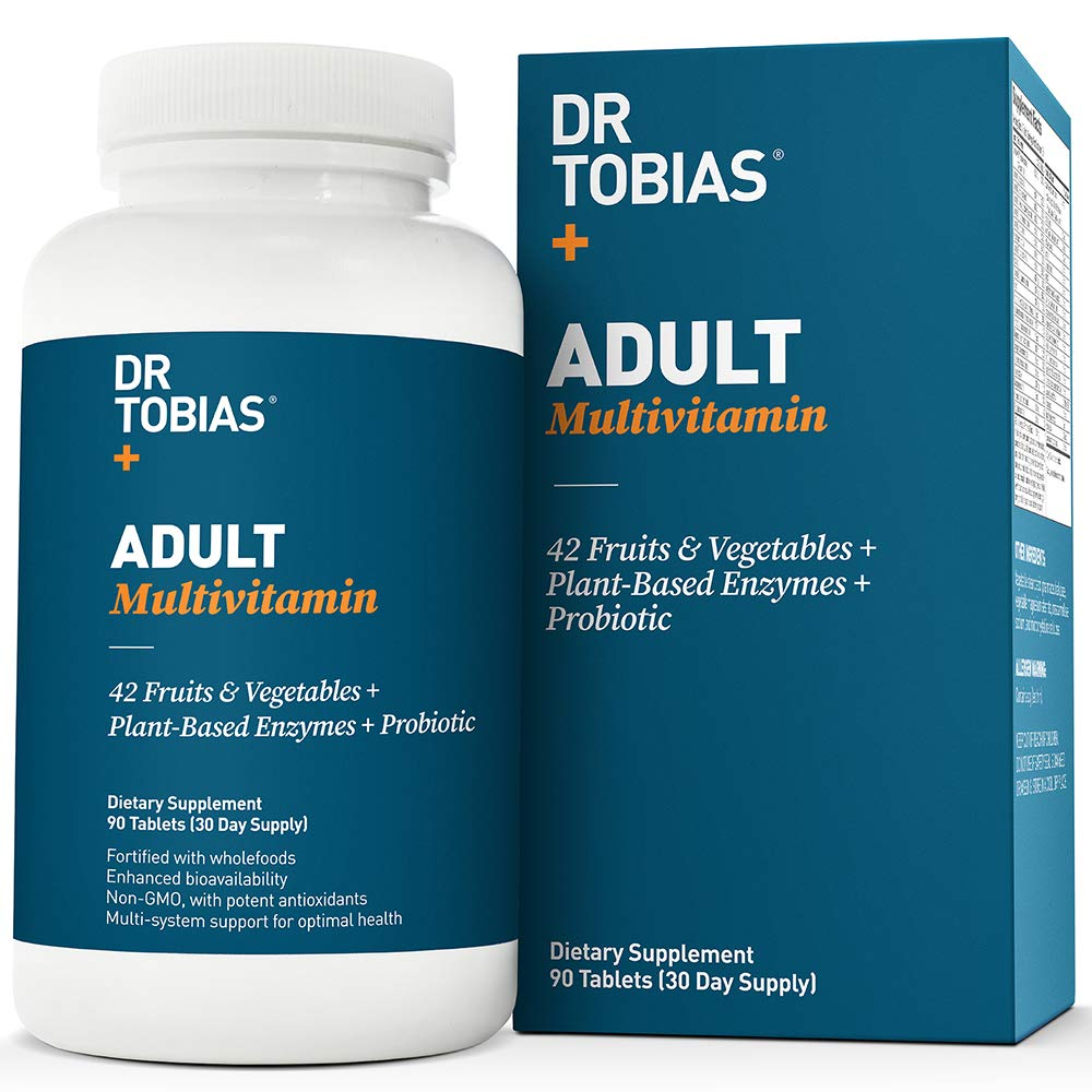 Dr Tobias Adult Multivitamin - Enhanced Bioavailability - with Whole Foods, Herbs, Minerals and Enzymes - Non-GMO by Dr. Tobias