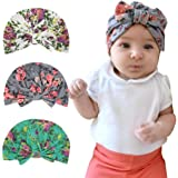 Sunbona Newborn Hat,Toddler Baby Floral Turban Knotted Hat Headwear Soft Cap For New Mother (Green)