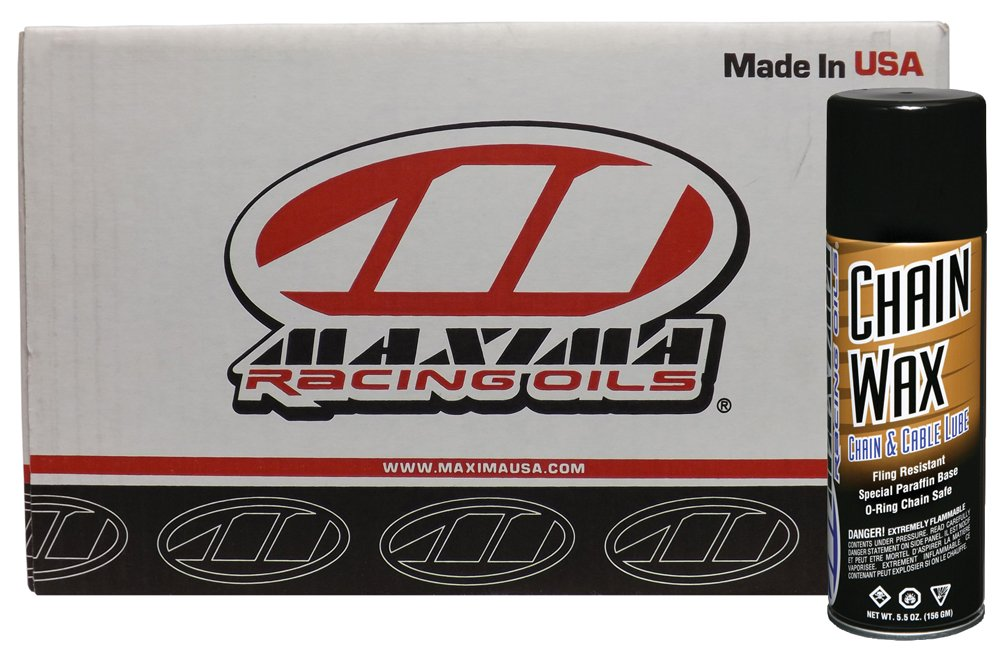 Maxima Racing Oils CS74908-20PK-20PK Chain Wax Aerosol - 110 oz., (Pack of 20) by Maxima