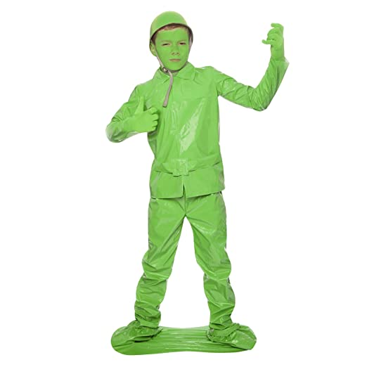 Morphsuits Saving Private Morph Green Toy Soldier Costume (Age 6 to 8), Small