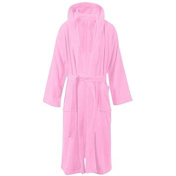 ES Living Boys   Girls 100% Cotton Hooded Bathrobe Towelling Bath Robe  Teenage Childrens 11 a2a8e6807