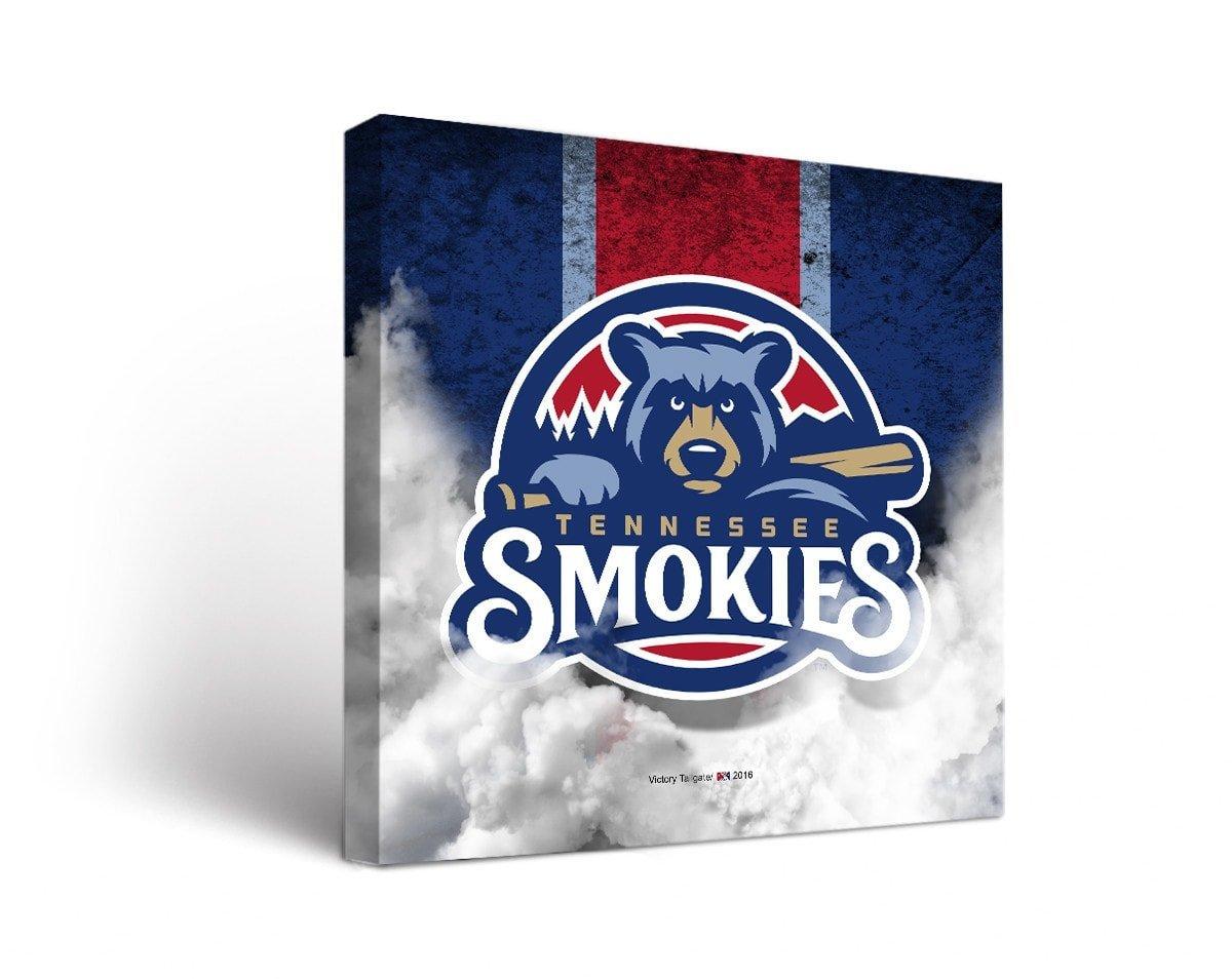 Tennessee Smokies MILBキャンバス壁アートヴィンテージデザイン 12x12  B01M2YX2PK
