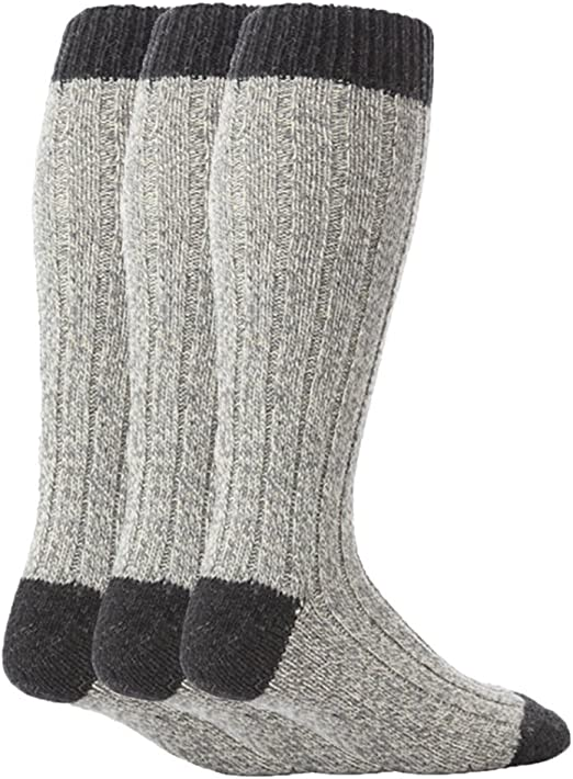 Calza uomo lunga in di LANA PESANTE calzino invernale termico calzettone inverno