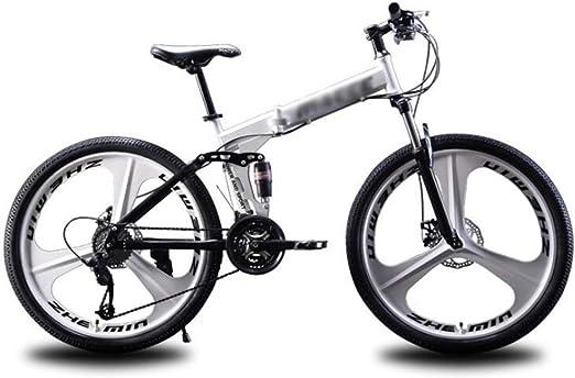 Tbagem-Yjr Bicicleta Plegable De Montaña, Ruedas De Radios De 24 Pulgadas Frenos De Disco Bicicleta Bicicleta De Carretera De Ciudad (Color : Silver, Size : 27 Speed): Amazon.es: Hogar