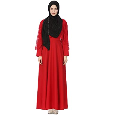 ba1131168a8b0 Lady's Islamic Abaya Dress Muslim Woman's Long Dress Kaftan (Small, ...