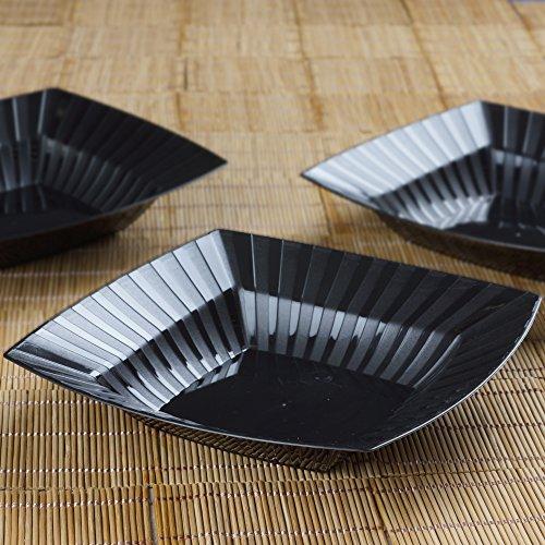 BalsaCircle 30 pcs 32 oz Black Striped Plastic
