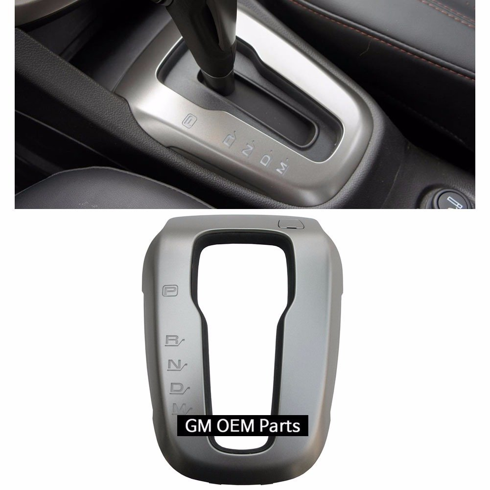 A/T Gear Shift Lever border Cover Silver For GM Chevrolet Sonic 2012+ OEM Parts