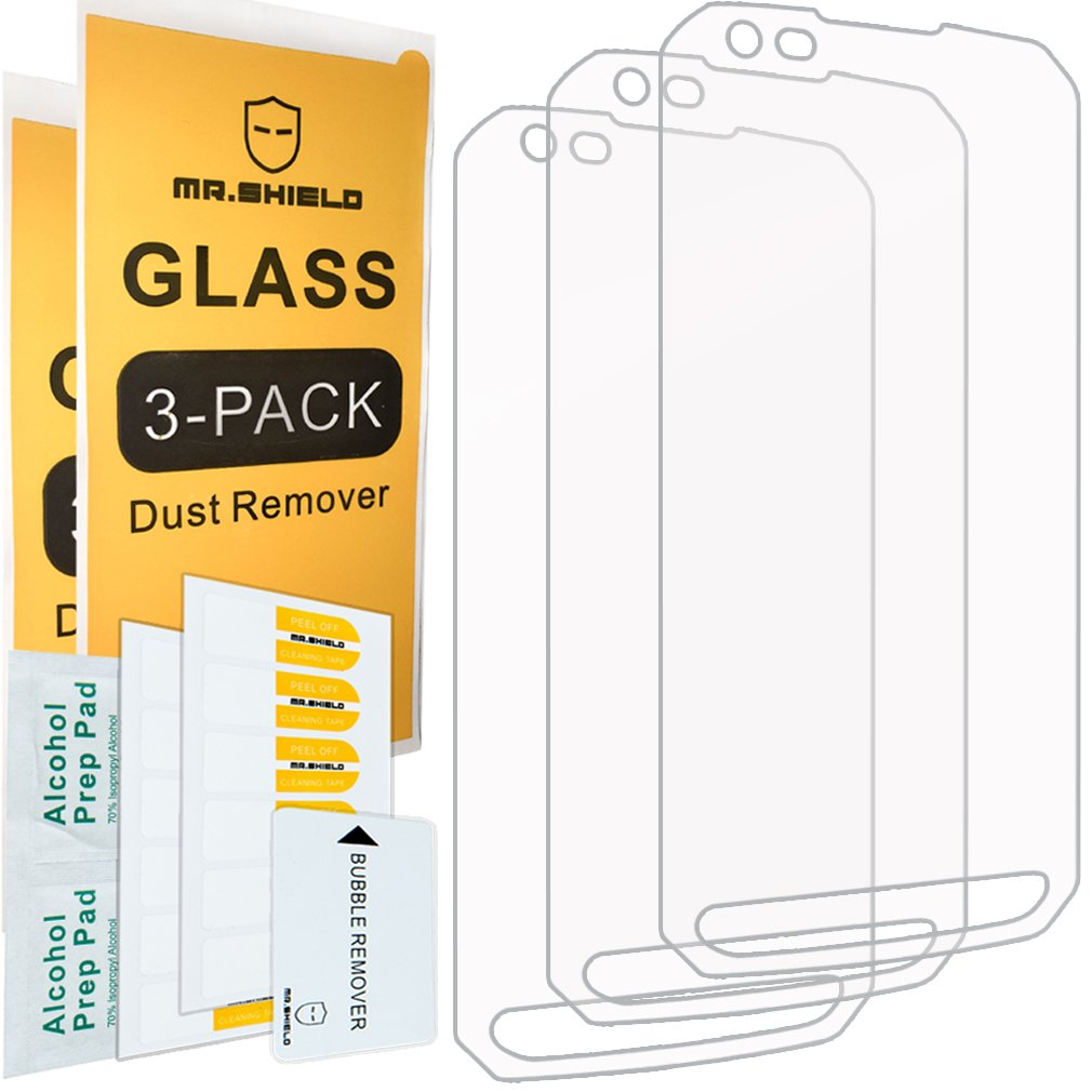 [3-Pack]- Mr.Shield for LG X Venture [Tempered Glass] Screen Protector [0.3mm Ultra Thin 9H Hardness 2.5D Round Edge] with Lifetime Replacement