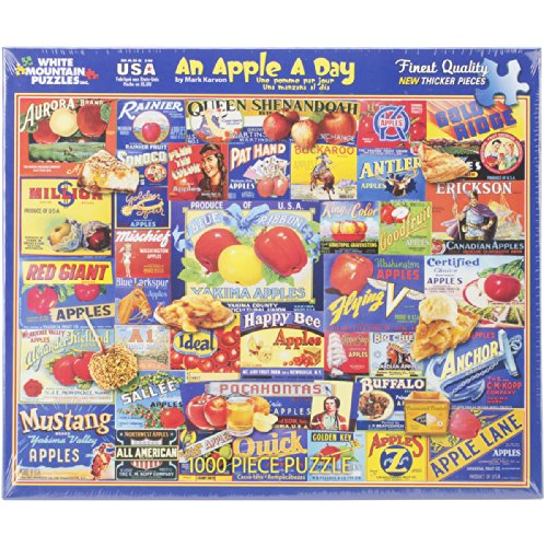 White Mountain Puzzles An Apple a Day - 1000 Piece Jigsaw Puzzle
