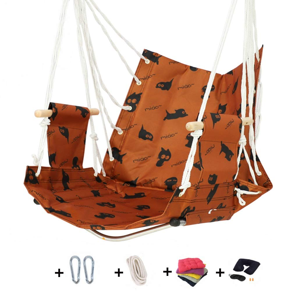 【年間ランキング6年連続受賞】 正方形のレースのハムスターの椅子CATの手織りの綿ロープ、屋内屋外テラスのデッキの中庭の庭棒が付いている怠惰なかわいい子の揺りかごの振動椅子 (色 : : B B) B07RB48LJ2 (色 B, JA和歌山県農JOIN:6375ce6b --- a-school-a-park.ca