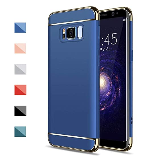 huge discount eaeac 80dd9 Galaxy S8 Plus Case, NAISU Galaxy S8 Plus Back Cover, Ultra Slim & Rugged  Fit Shock Drop Proof Impact Resist Protective Case, 3 in 1 Hard Case for ...