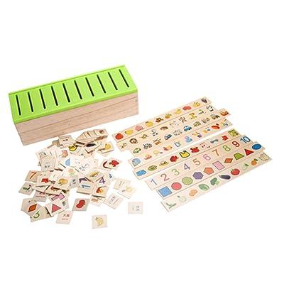 KESOTO Caja De Juguetes De Clasificación De Madera Montessori Patrón De Niños Coincidencia Clasificar Juguete: Belleza