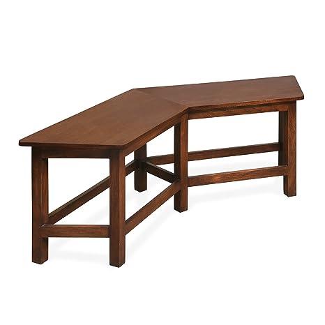 @Home by Nilkamal Malibu 2 Seater Dining Bench (Walnut)